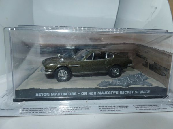 JAMES BOND CARS COLLECTION 1/43 ASTON MARTIN DBS On Her Majesty's Secret Service